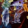 "\""Crane\"" - Acrylic by Jodi Patterson"