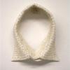 "\""Light-Collar\"" - Ornament and Order Collar, white rice, thread by Aram Han"
