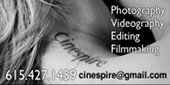 Cinespire: Photography, Videography, Editing, Film Making: 615-427-1459