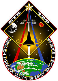 The patch created for NASA Mission STS-129 including all of the crews' names.