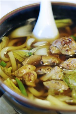 The Chicken Udon is an excellent take on chicken noodle soup.
