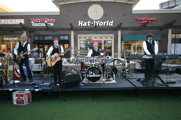 The WannaBeatles performing at the Avenue. Photo by Lucy Hart.