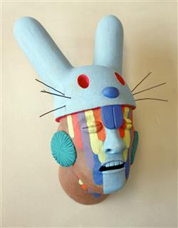 """Bunny Shaman"" by John Donovan and Charles Clary, ceramics"
