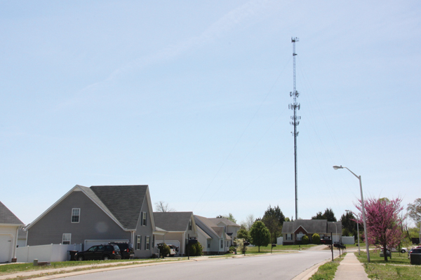 Cell tower beside a neighborhood off Florence Rd.