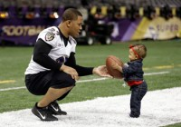 Ray Rice with daughter Rayven