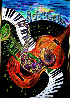 City of Music by Diane Stockard will be on display at the Murfree Gallery this month.