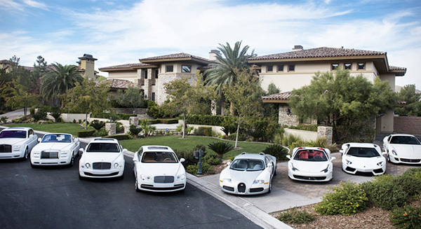 Mayweather's white car collection