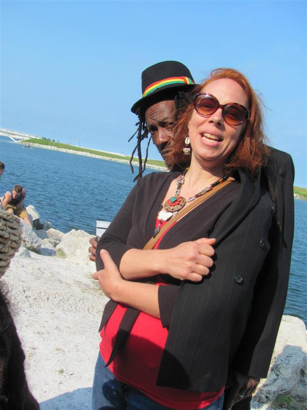 Husband and wife musicians Kristen Urban and Bunny General of The Urbanites experience that it's cooler by the lake