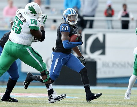 Kevin Byard advances the ball after hauling in yet another interception.