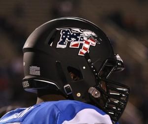 MTSU flag helmet