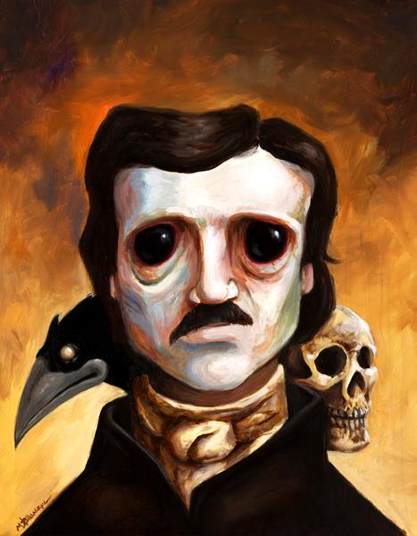 Edgar Allen Poe, oil on panel, 11×14, 2013