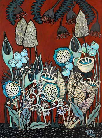 """Blue Pods and Fronds"" by Dawna Magliacano"