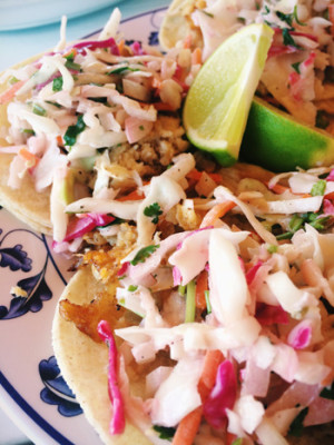 Fish tacos from Mexiven