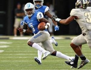 Richie James has hauled in 22 catches in just the first two games of the 2016 season. Photos courtesy goblueraiders.com.