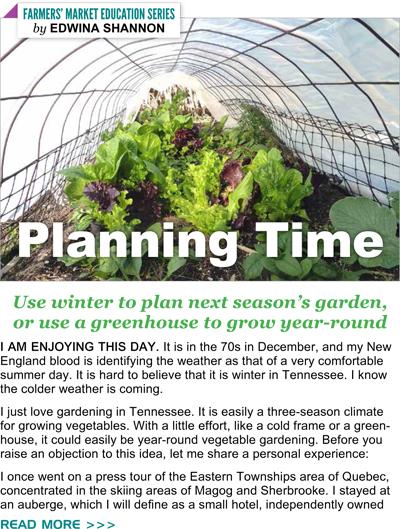 Planning next year's garden