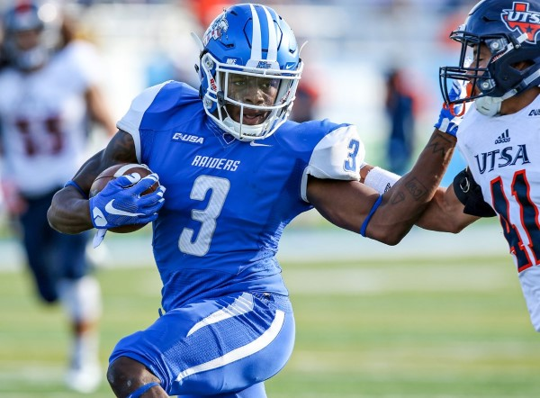 MTSU wide receiver Richie James. Photos courtesy goblueraiders.com.