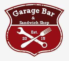 garage bar and sandwich shop logo