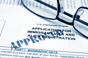Immigrant visa form