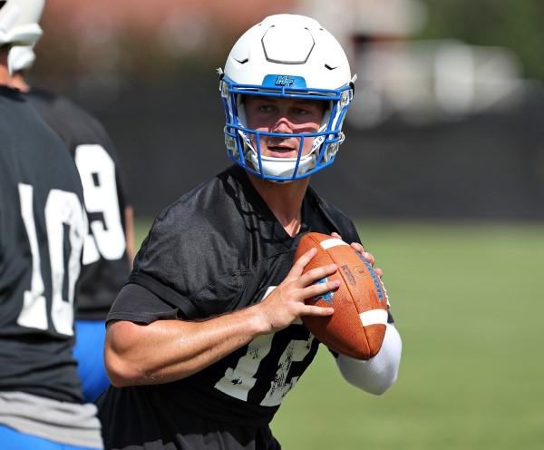 QB Brent Stockstill in practice. Photos courtesy goblueraiders.com.