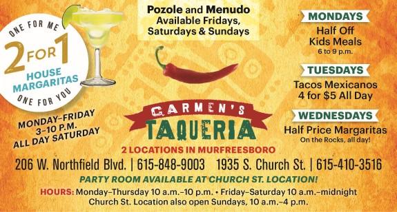 Carmen's Taqueria